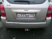 Фаркоп Bosal VFM 4235-A для Hyundai Tucson 4x4 (г.в. 2004-2010) и Kia Sportage 4x4 (г.в. 2005-2010)