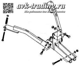Фаркоп Bosal VFM 6504-A для УАЗ 31519 Хантер (UAZ Hunter) с шаром типа A